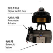 Pneumatic Air Actuated Ball Valve With Switch Box Positioner