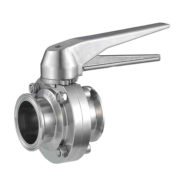 Sanitary Manual Tri Clamp Butterfly Valve with Stainless Steel Multiple Position Gear Handle