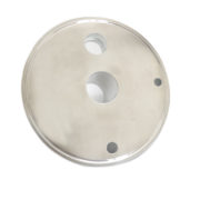 6″ End cap extractor lid with ferrule, sight glass,NPT ports
