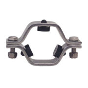 Sanitary Stainless Steel Hexagon Pipe Holder with Rubber Insest PVC Sleeve