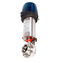 Pneumatic Butterfly Valve with Intellegent Control Head