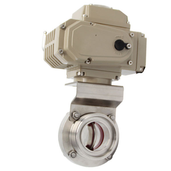 Sanitary Butterfly Valve with Electric Acutator