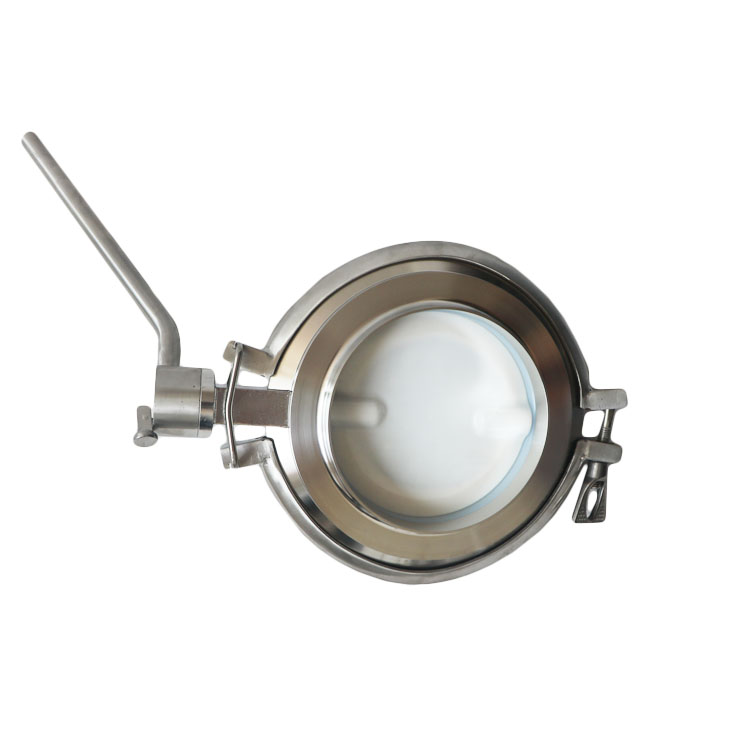 Hygienic Welded Powder Tight Butterfly Valves Wafer Tri Clamp connection