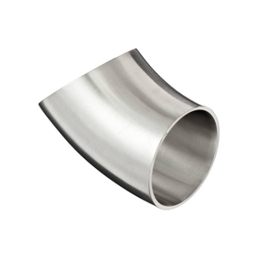 Stainless Steel Sanitary 45 Degree Elbows With Tangent