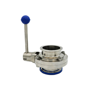 Sanitary Tri clamp 3A butterfly valve with Pull handle EPDM Silicone seal