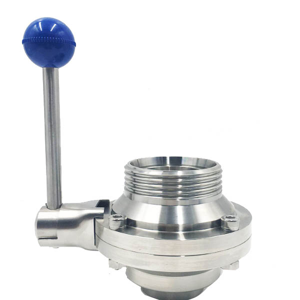 Sanitary Stainless Steel Butterfly Type Ball Valve Tri Clamp