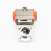 Aluminum Pneumatic Actuated Butterfly Valve