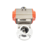 Pneumatic Butterfly Valve With Positioner Switch Box