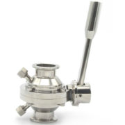 Sanitary CIP Cleaning Stainless Steel Butterfly type Ball Valve