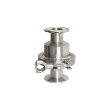 sanitary check valve with tri-clamp end