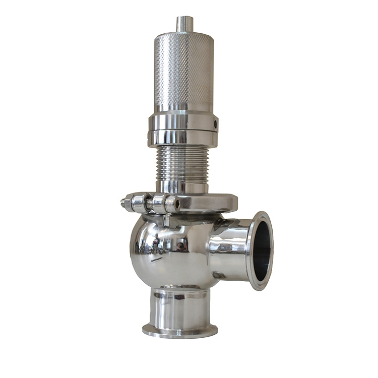 Sanitary Pressure Relief Overflow valve with Tri-clamp End
