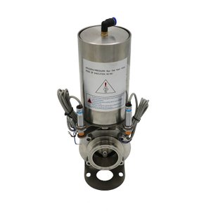 Pneumatic Clamped butterfly valve with stainless steel actuator