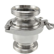 Hygienic Threaded DIN11851 Check Valve with Heavy Duty Clamp