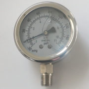 Glycerin Filled Compound Pressure Vacuum Gauge with 1/4″MNPT