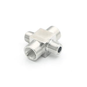 "SS304 Forged Pipe Fitting Cross 1/2"" NPT Male Female"