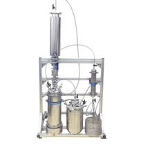 Sanitary 2LB Closed Loop Butane Extractor With Dewaxing Column And Jacketed Shatter